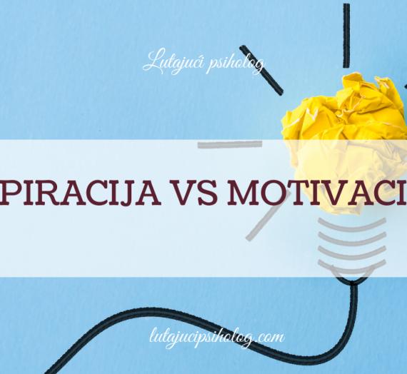 Inspiracija vs motivacija