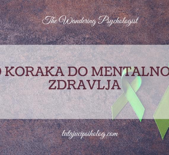 10 koraka do mentalnog zdravlja
